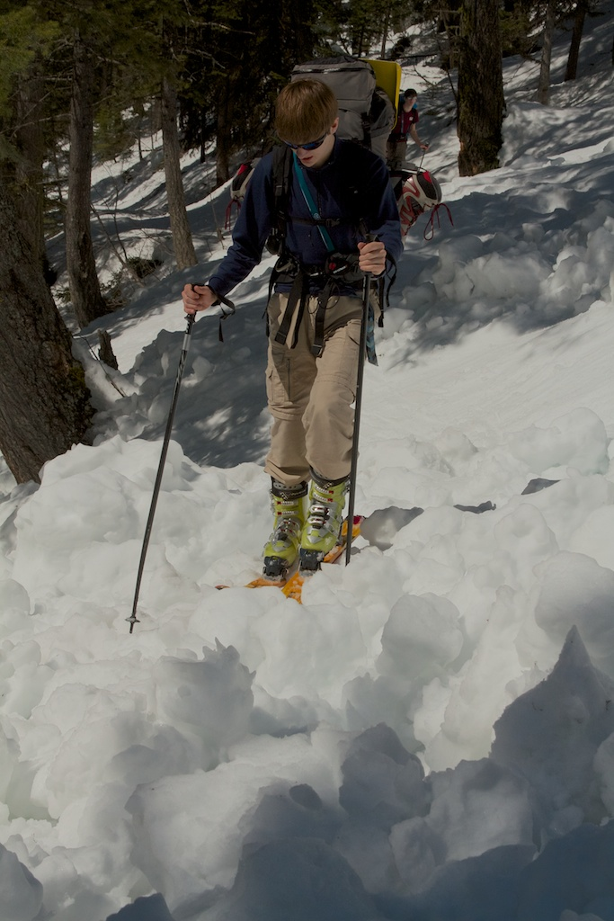 Breaking Trail Through Avalanche Debris