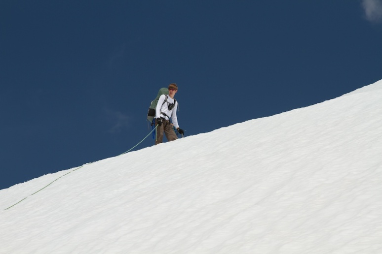 Tyler Rasmussen Climbing Mt. Rainier