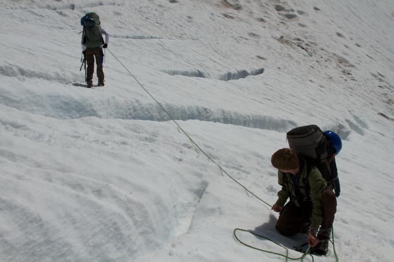 Navigating Crevasses on Mt. Rainier