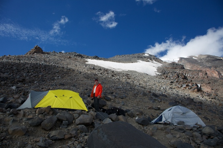 Our tent site at the top of 4200m camp