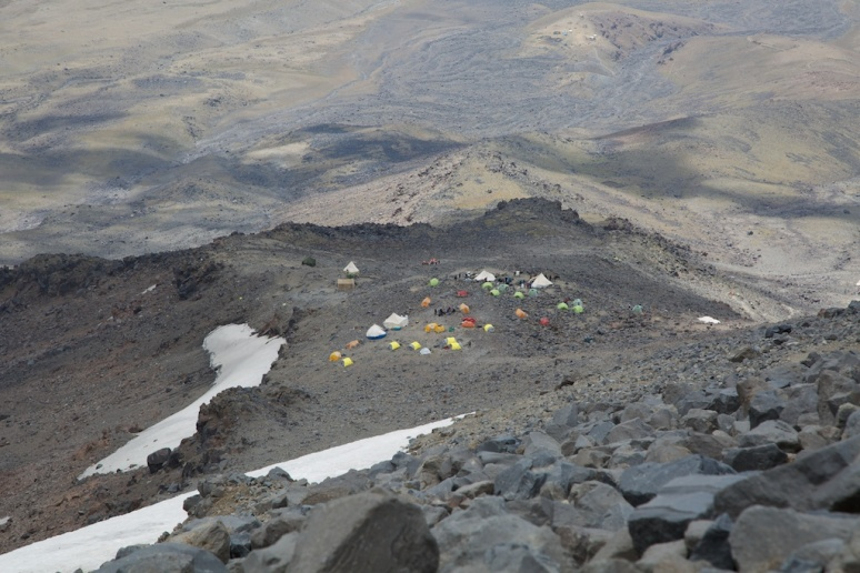4200m camp from above